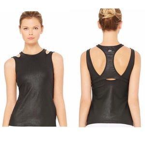 ALO Yoga Absolute Performance Tank Faux Leather